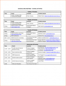 event schedule template event schedule template