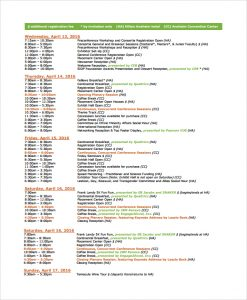 event schedule template event schedule timetable template