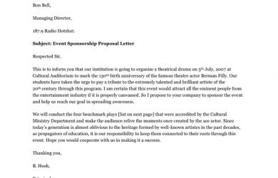 event sponsorship letter event sponsorship proposal letter