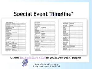 event timeline template converting your special event guests to program donors