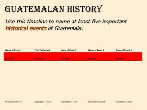 event timeline template guatemala template t