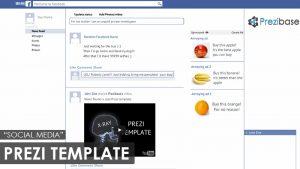 event timeline template social media facebook prezi template