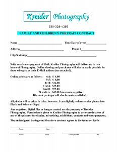 eviction letter sample portrait photography contract template