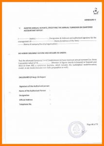 eviction letter sample turnover certificate format