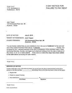 eviction notice florida