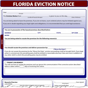 eviction notice florida
