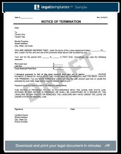 eviction notice form eviction notice form template