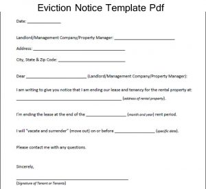 eviction notice form sample eviction notice template pdf
