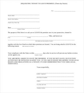 eviction notice texas three day notice eviction notice template