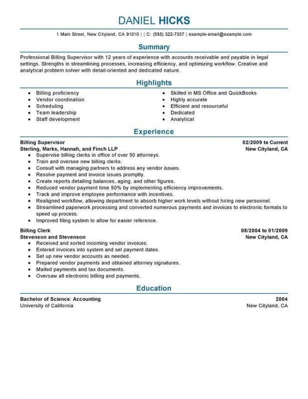 example basic resume