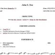 example basic resume page