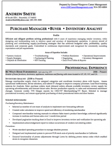 example college resume buyer resume examples