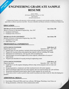 example engineering resume engineering graduate resume example