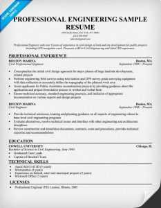 example engineering resume professional engineer resume examples