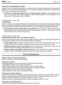 example engineering resume sample resume engineering management pg
