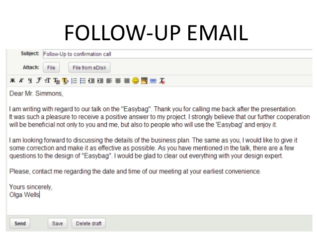 example follow up email