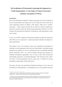 example of a literature review literature review on youth leadership sample