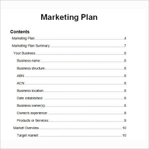 example of a marketing plan marketing plan template