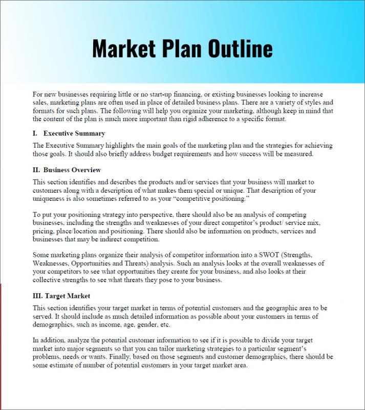example of a marketing plan