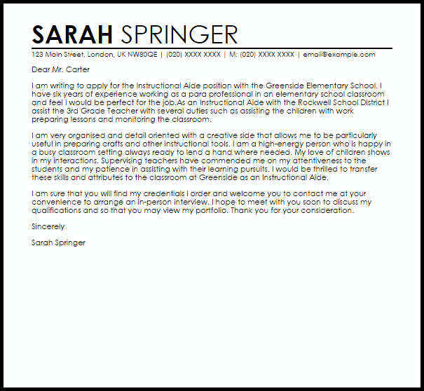 Example Of A Recommendation Letter   Template Business