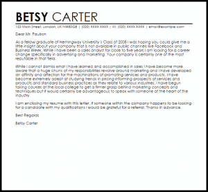 example of a reference letter for a career change