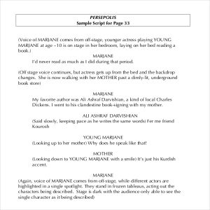 example of a script sample novel script writing template