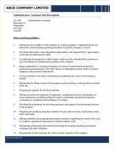 example of an autobiography administration job description template j administrative assistant job description