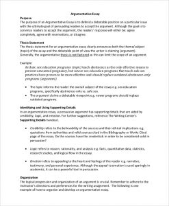 example of an essay outline argumentative essay outline example