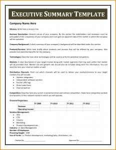 example of an executive summary executive summary sample