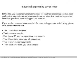 example of application letter electrical apprentice cover letter