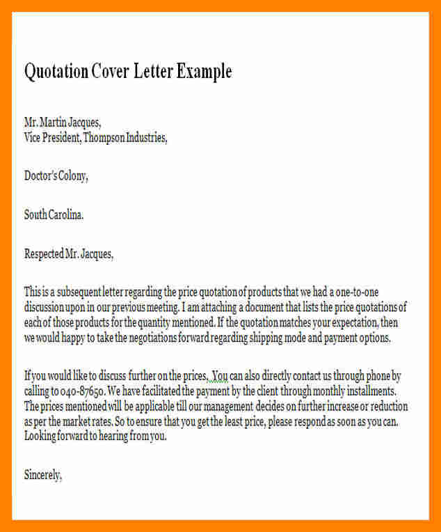 Example Of Business Letter  Template Business