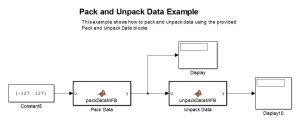 example of documentation packunpackdatasimulinkexample