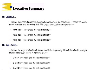 executive summary proposal