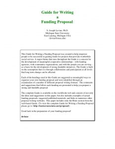 example of grant proposal guide for writing funding proposal