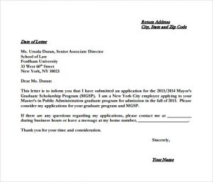 example of letter of intent example college letter of intent