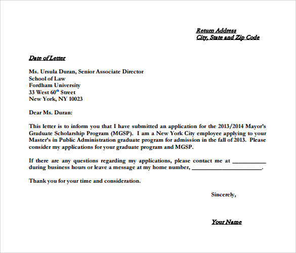 example of letter of intent