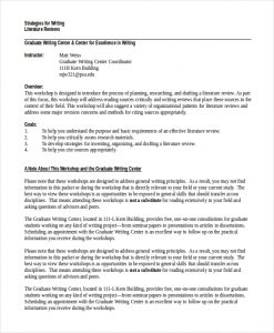 example of literature review dissertation literature review example