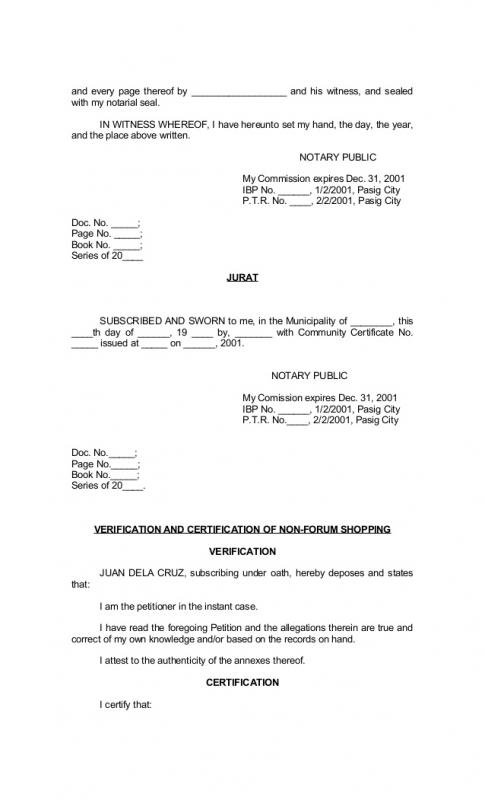 example of notarized document