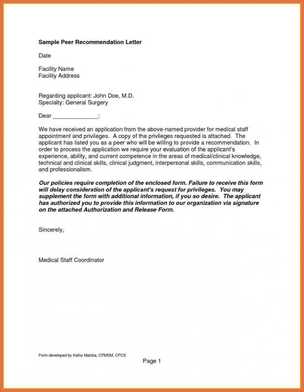 Example Of Reference Letter  Template Business