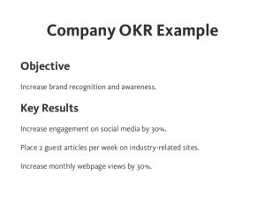 example of simple resume okr objectives and key results effective goal setting on company team and personal level