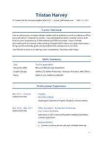example student resume sample student resume page