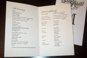 example wedding programs program pompeii inside