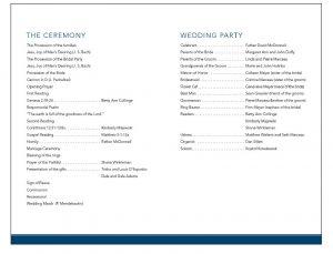 example wedding programs web weddingprograms back