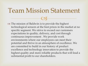 examples of a mission statement baldwin
