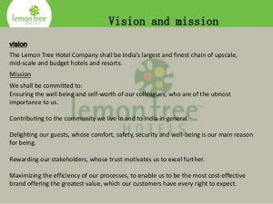 examples of a mission statement new microsoft power point presentation on lemon tree hotels