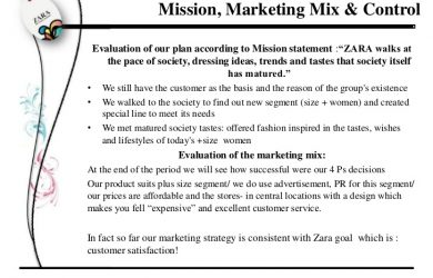 examples of a mission statement zara marketing plan