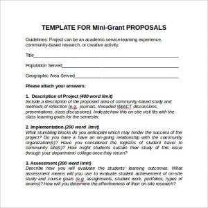 examples of grant proposals example of grant proposal template