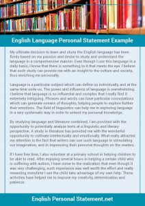 examples of letter of intent english language personal statement example
