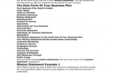 examples of mission statements business mission statement example template gzbkdqzy