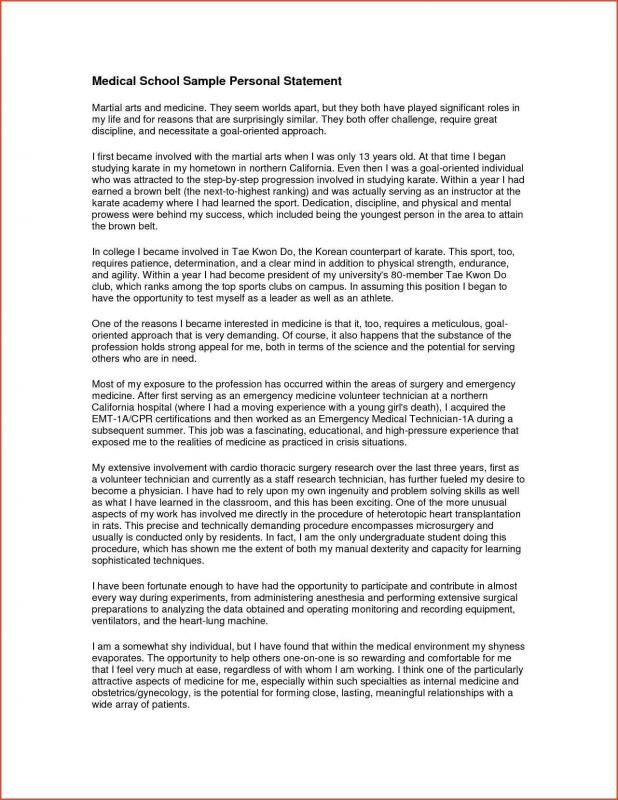 Examples Of Personal Statements  Template Business